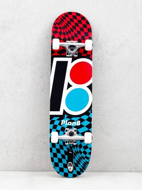 Skateboard Plan B Team Checker (red/blue/black)
