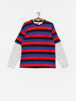 Mikina Primitive Two Fer Stripe Crew (midnight)