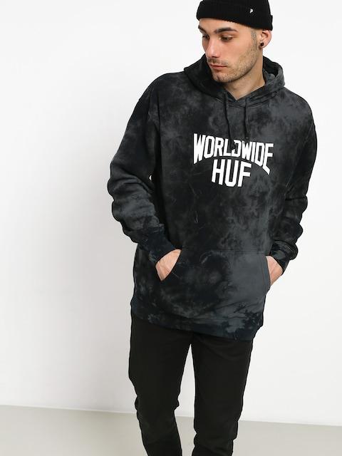 Mikina s kapucí HUF Manhattan HD (black)