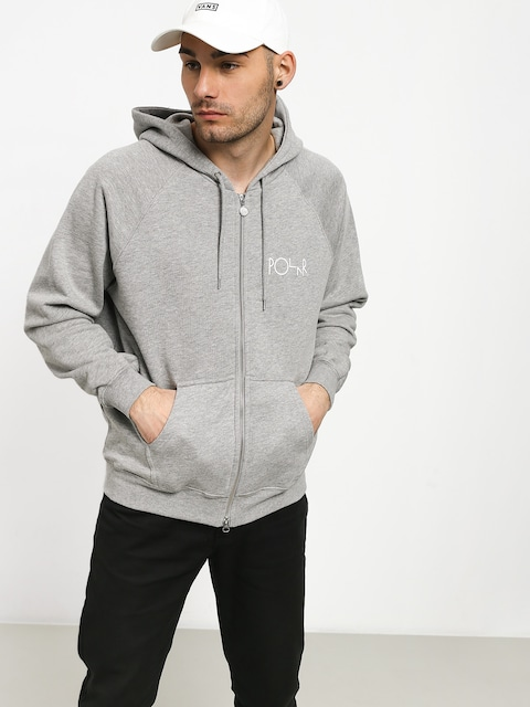 Mikina s kapucí Polar Skate Stroke Logo ZHD (heather grey)