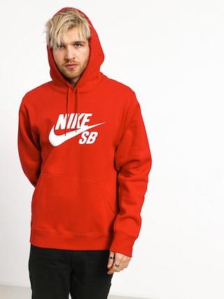 Mikina s kapucí Nike SB Sb Icon HD (university red/white)
