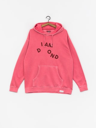 Mikina s kapucí Diamond Supply Co. I Am HD (pink)