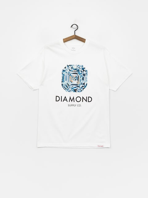 Tričko Diamond Supply Co. Asscher Cut (white)