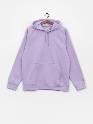 Mikina s kapucí Carhartt WIP Chase HD (soft lavender/gold)