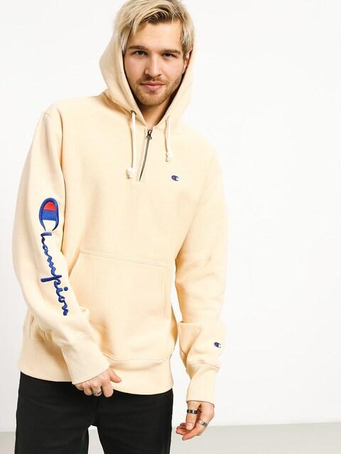 Mikina s kapucí Champion Reverse Weave Hooded Half Zip Sweatshirt ZHD (wet)