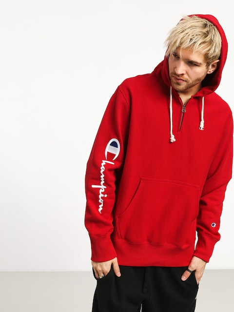 Mikina s kapucí Champion Premium Reverse Weave Hooded Half Zip Sweatshirt ZHD (htr)