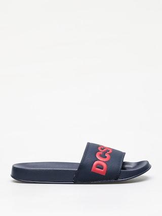 Plu00e1u017eovky DC Slide (navy/red)