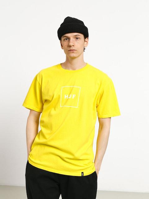 Tričko HUF Essentials Box Logo (aurora yellow)