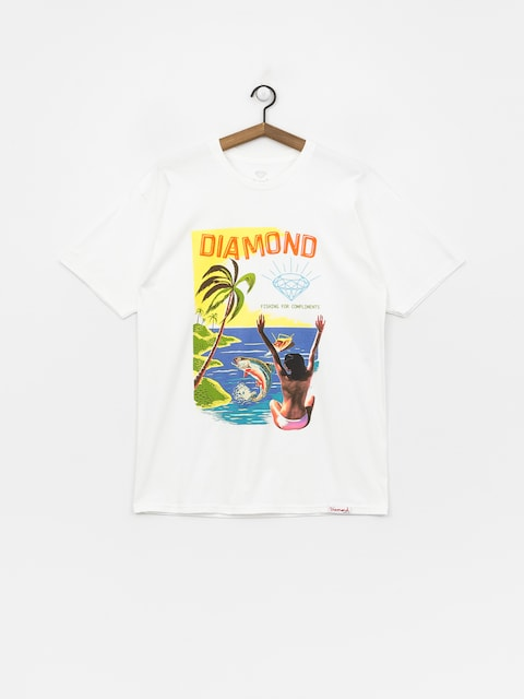 Tričko Diamond Supply Co. Fishing For Compliments (white)