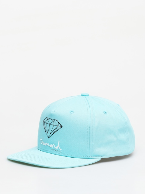 Kšiltovka  Diamond Supply Co. Og Sign Snapback ZD (diamond blue)