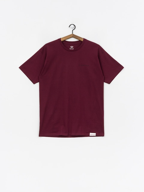 Tričko Diamond Supply Co. Marquise (burgundy)