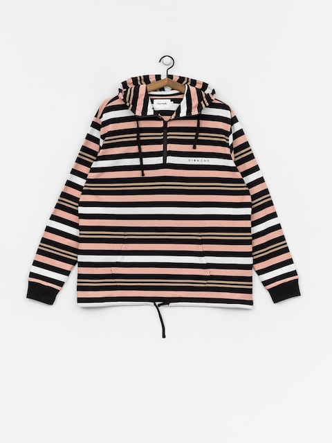 Mikina s kapucí Diamond Supply Co. Marquise Striped ZHD (black)