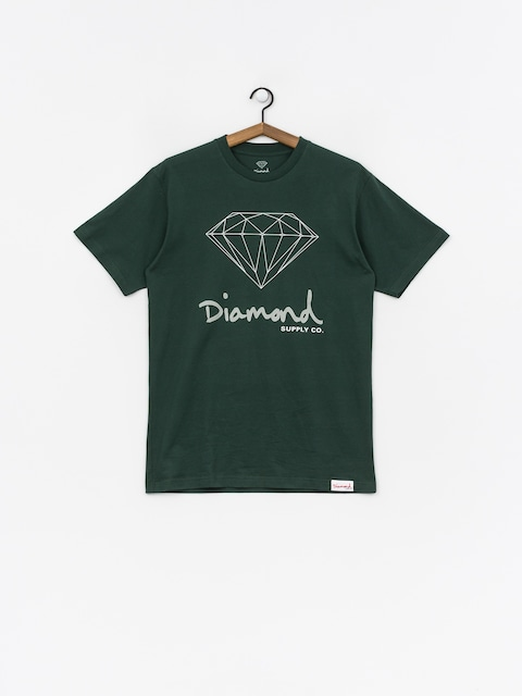 Tričko Diamond Supply Co. Og Sign (hunter green)