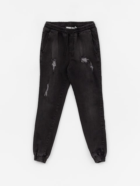 Kalhoty Diamante Wear Rm Jeans Jogger (ripped black jeans)