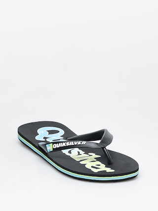 Plu00e1u017eovky Quiksilver Molokai Wordmark Fineline (black/green/blue)