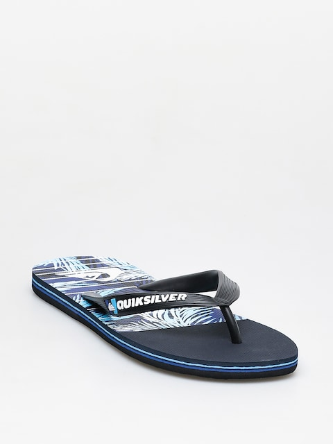 Plážovky Quiksilver Molokai Drained Out (black/blue/blue)