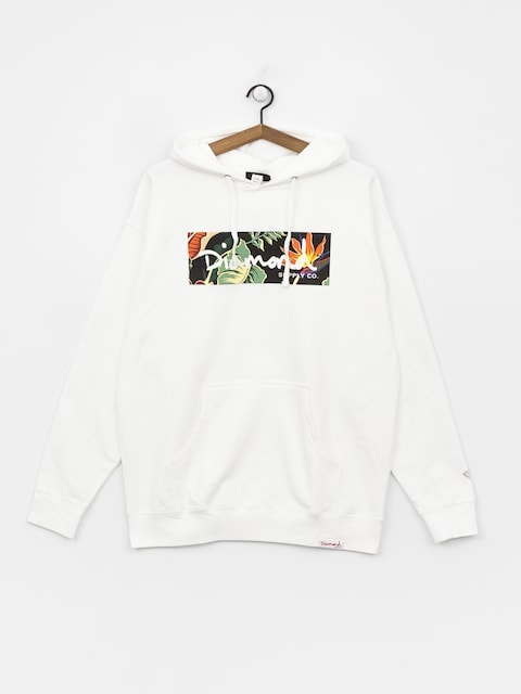 Mikina Diamond Supply Co. Paradise Box Logo (white)