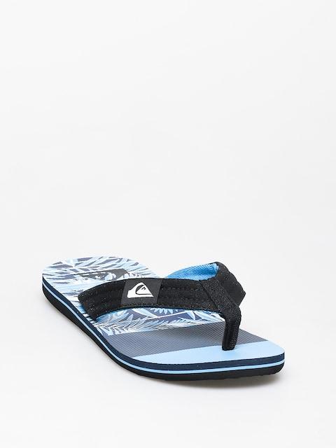 Plážovky Quiksilver Molokai Layback (black/blue//blue)
