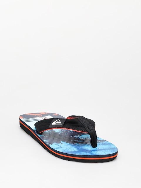 Plážovky Quiksilver Molokai Layback (black/orange/blue)