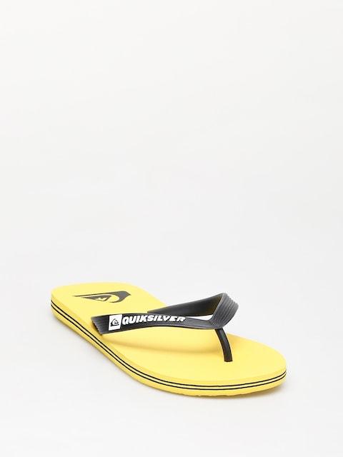 Plážovky Quiksilver Molokai (black/yellow/yellow)