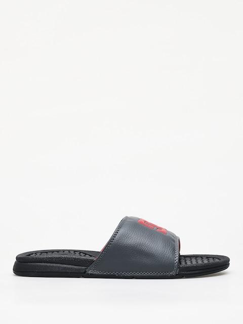 Plážovky DC Bolsa (black/grey/red)