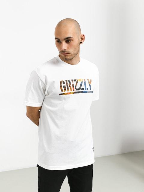 Tričko Grizzly Griptape Stamped Scenic (white)