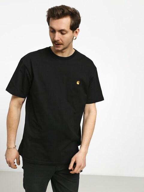 Tričko Carhartt Chase (black/gold)
