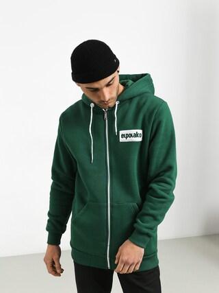 Mikina s kapucí El Polako Small Logo ZHD (green)