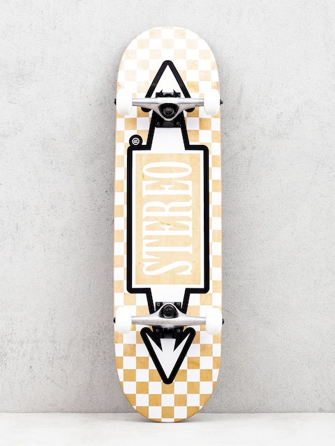 Skateboard Stereo Arrow Square (beige/white)
