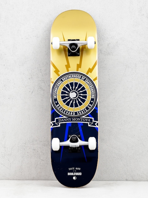 Skateboard Boulevard Montoya Brotherhood (gold/navy)