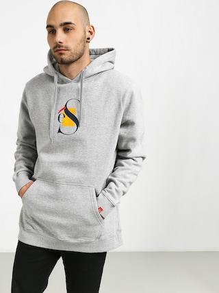 Mikina s kapucí Es Layers HD (grey/heather)