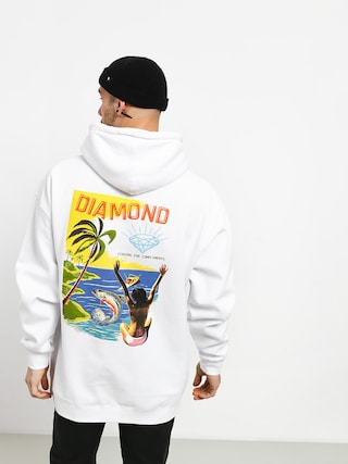 Mikina s kapucí Diamond Supply Co. Fishing For Compliments HD (white)