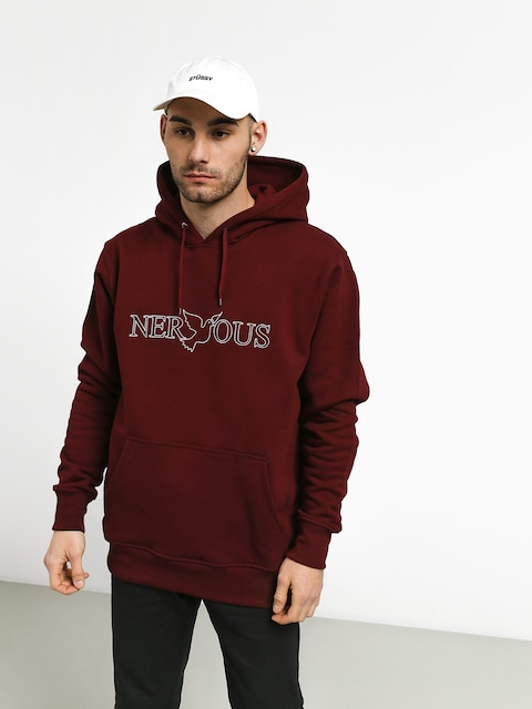 Mikina s kapucí Nervous Classic HD (maroon)
