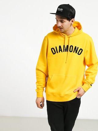 Mikina s kapucí Diamond Supply Co. Diamond Arch HD (yellow)