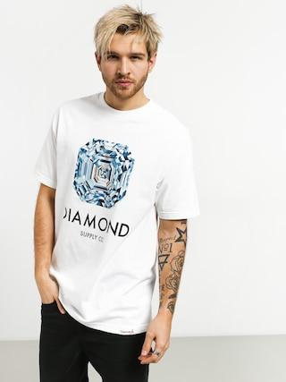 Tričko Diamond Supply Co. Asscher Cut (white)