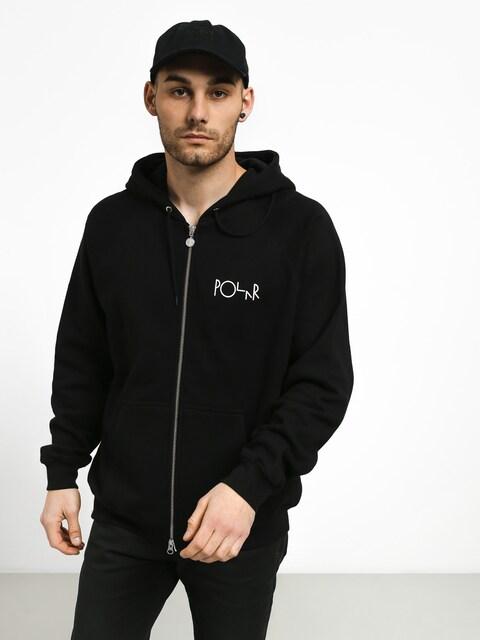 Mikina s kapucí Polar Skate Stroke Logo ZHD (black)