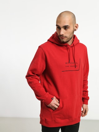Mikina s kapucu00ed Rip Curl Daily Fleece HD (red)