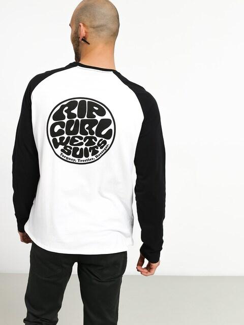 Triko Rip Curl Original Raglan (black/white)