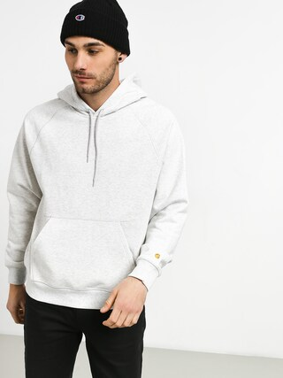 Mikina s kapucí Carhartt WIP Chase Sweat HD (ash heather/gold)