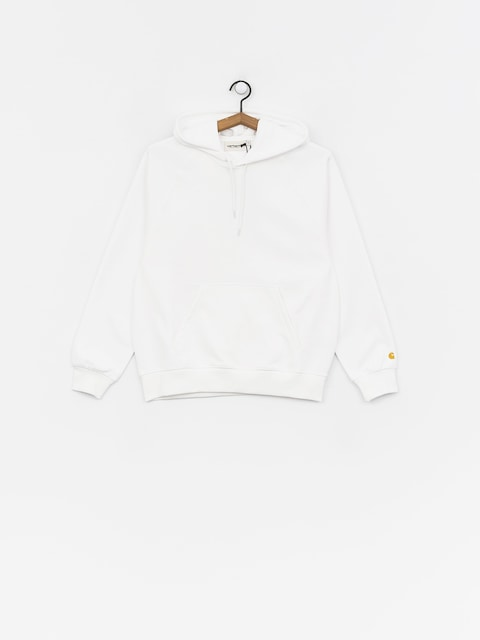 Mikina s kapucí Carhartt WIP Chase HD Wmn (white/gold)