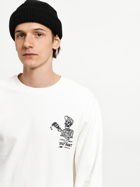 Mikina Element Spilt Crew (off white)