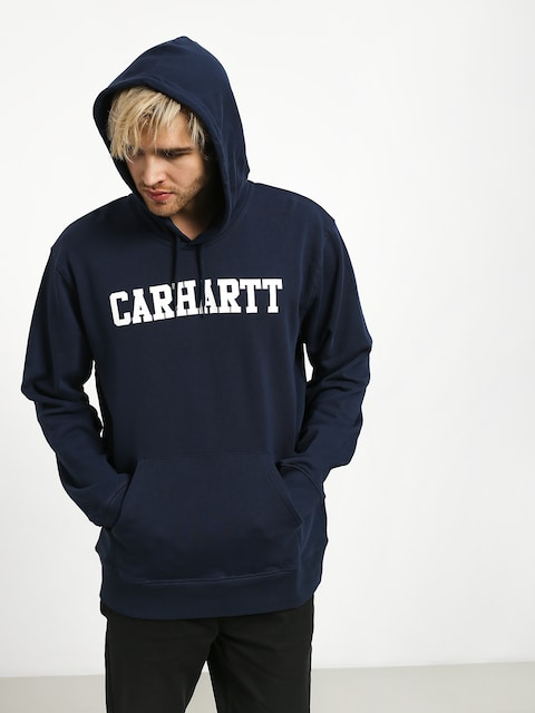 Mikina s kapucí Carhartt WIP College HD (blue/white)