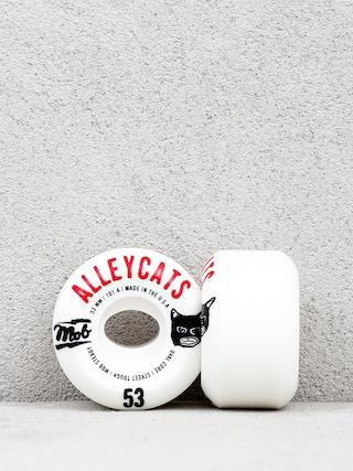 Kolečka Mob Skateboards Alleycats (white/black/red)