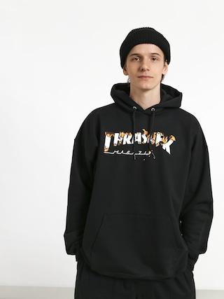 Mikina s kapucí Thrasher Intro Burner HD (black)