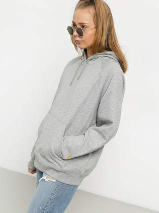 Mikina s kapucí Carhartt WIP Chase HD Wmn (grey heather/gold)