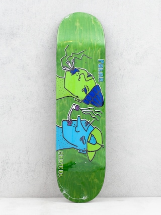 Deska Polar Skate Team Smoking Heads (green)