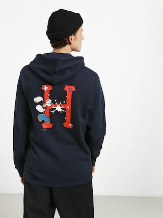 Mikina s kapucí HUF Popeye Skates HD (navy)