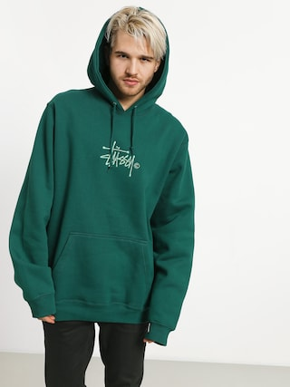 Mikina s kapucí Stussy Basic Copyright App HD (green)