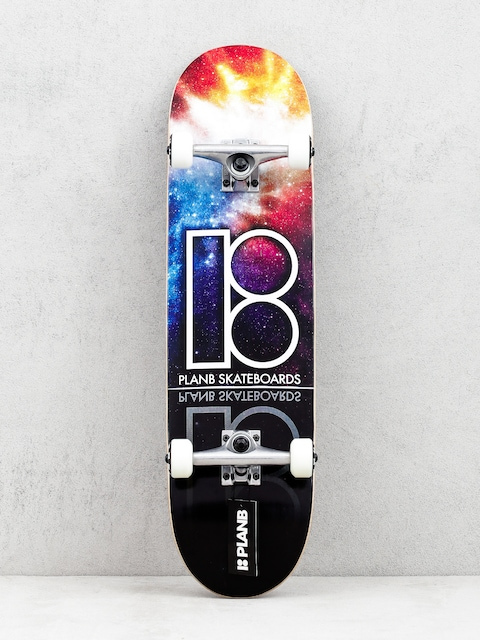 Skateboard Plan B Team Nebula (black/multi)