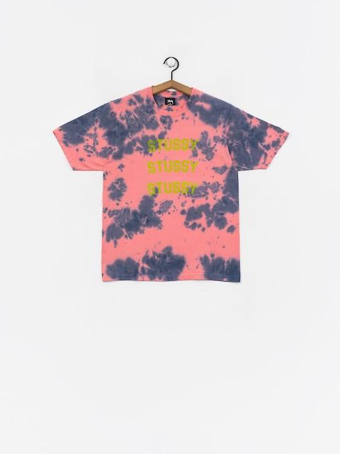 Tričko Stussy Triple Arch Td Wmn (pink)